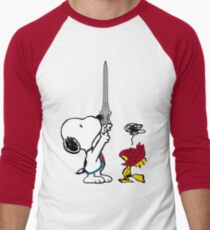 He-Dog and Battle Bird Men's Baseball ¾ T-Shirt