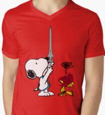 He-Dog and Battle Bird Men's V-Neck T-Shirt