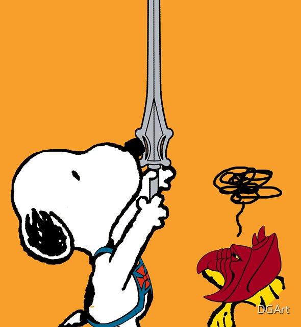 He-Dog and Battle Bird by DGArt