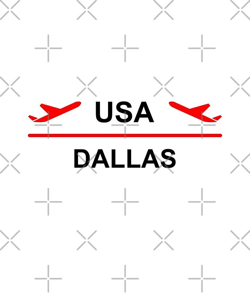 Dallas USA Airport Plane Light-Color by TinyStarAmerica