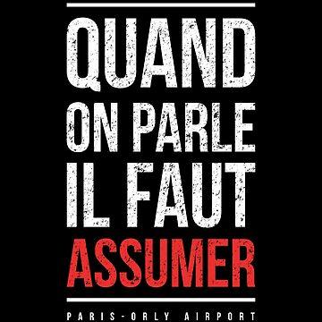 """booba vs kaaris T-Shirt Booba: """" Quand On Parle Il Faut Assumer """" by drakouv"""