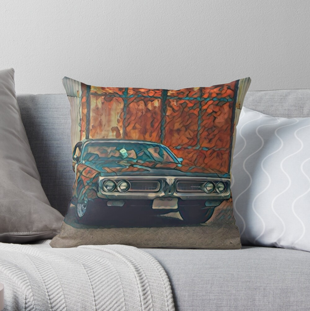 1971 Dodge Charger 383 Magnum Throw Pillow