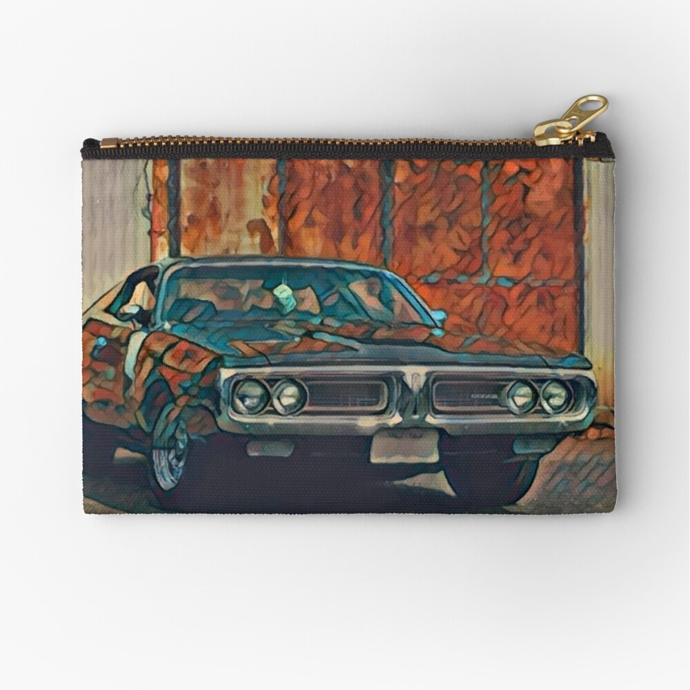 1971 Dodge Charger 383 Magnum Zipper Pouch