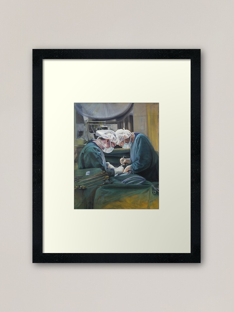 Alternate view of Two Heads as One - original work - oil on canvas by Avril Thomas Framed Art Print
