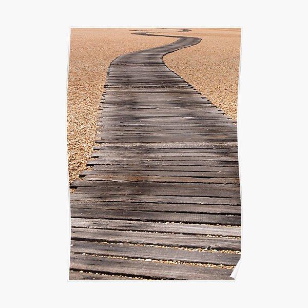 Winding Boardwalk Path Poster