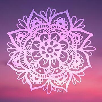 Sunset Sky Mandala by julieerindesign