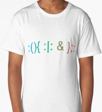 Fork Bomb... Old School Trouble Long T-Shirt