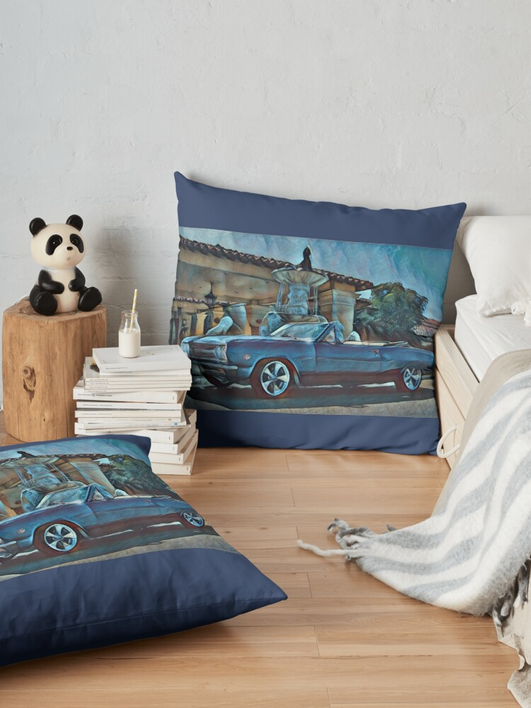 Alternate view of Classic Car Chevrolet Chevelle Convertible Floor Pillow