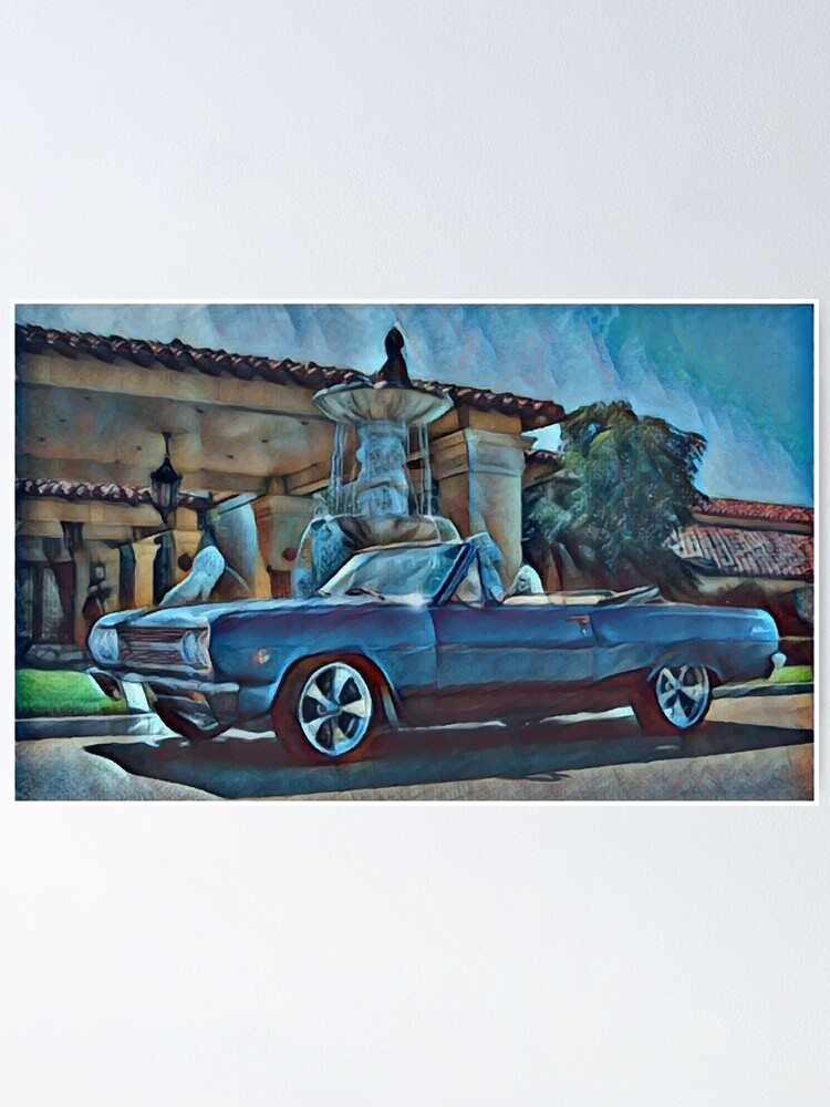 Alternate view of Classic Car Chevrolet Chevelle Convertible Poster