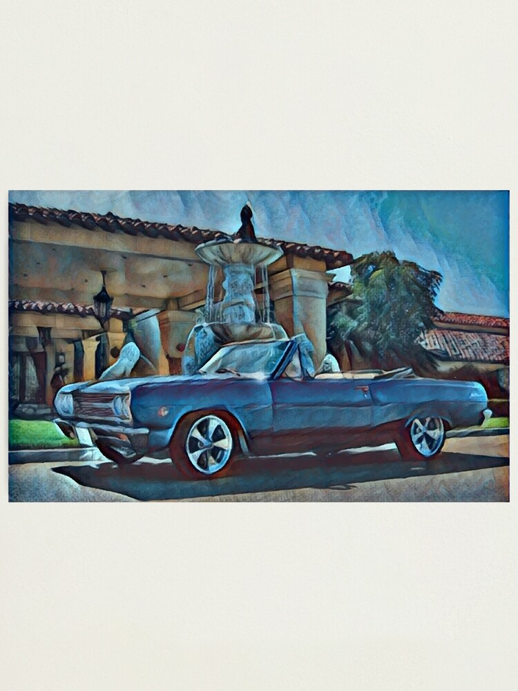 Alternate view of Classic Car Chevrolet Chevelle Convertible Photographic Print