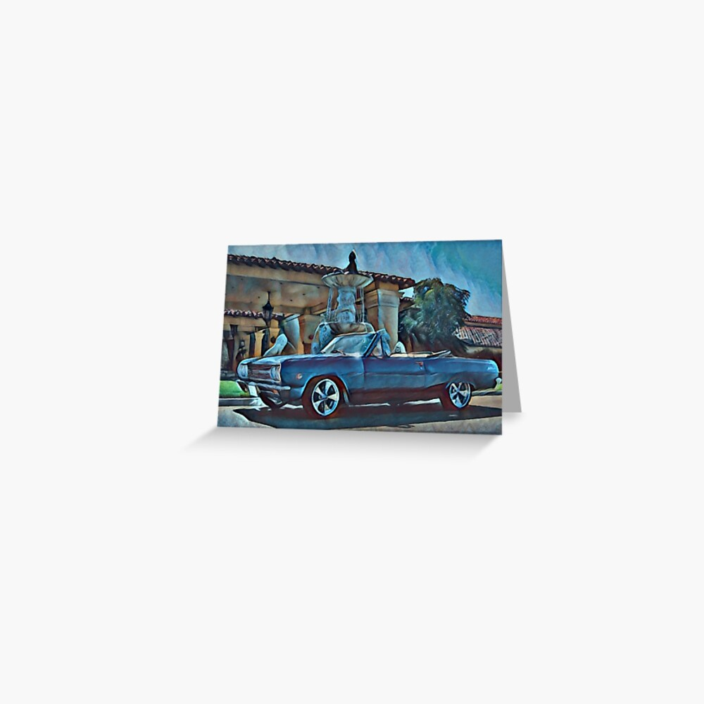 Classic Car Chevrolet Chevelle Convertible Greeting Card