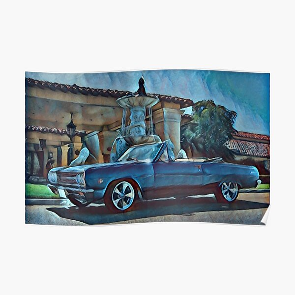 Classic Car Chevrolet Chevelle Convertible Poster