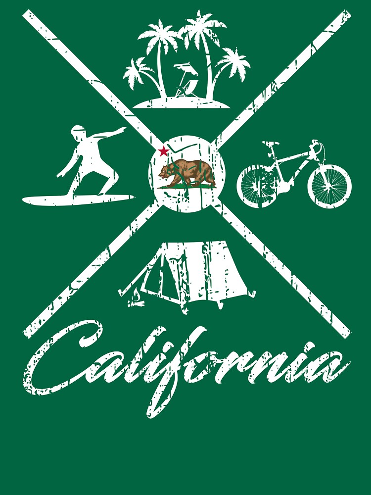 EXPLORE CALIFORNIA - DISTRESSED DESIGN WITH CALIFORNIA ADVENTURES by NotYourDesign