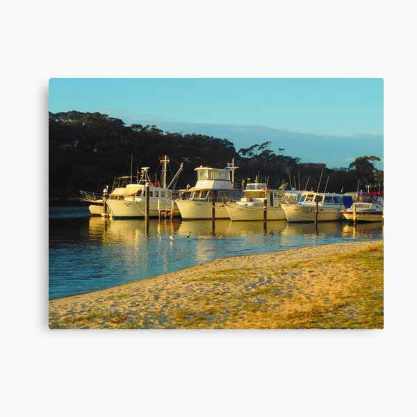 Boats on the Sandy Bank Canvas Print