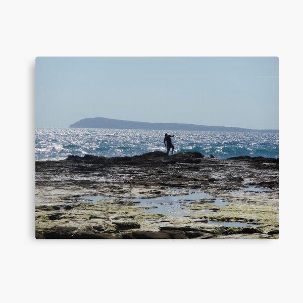 Tiptoe on the rocks  Canvas Print