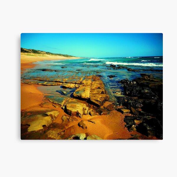 River Meets Ocean Canvas Print