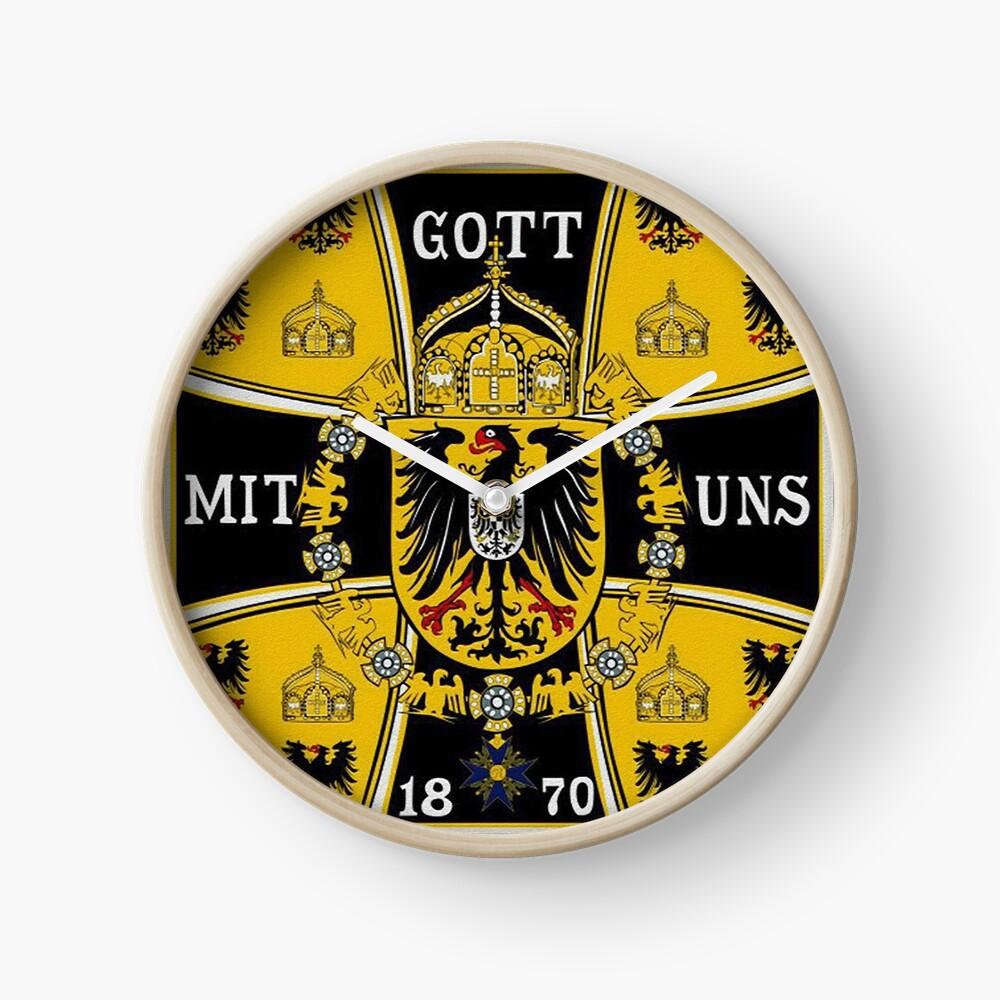 Prussian Battle Flag of 1870  Clock