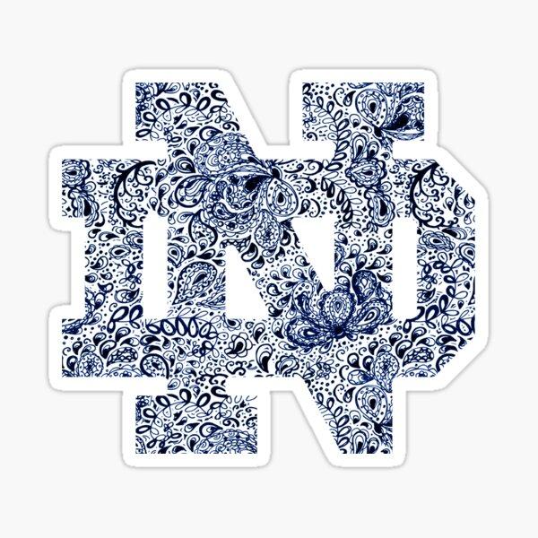 Notre Dame Paisley Doodle Sticker