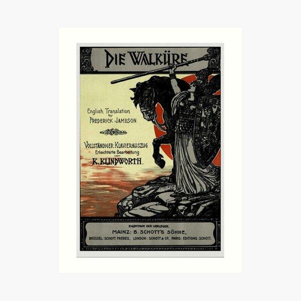 Vintage Poster, Wagner's opera Die Walküre, 1899 Art Print
