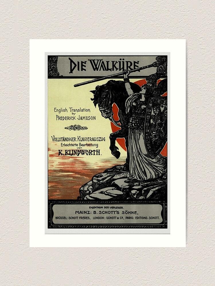 Alternate view of Vintage Poster, Wagner's opera Die Walküre, 1899 Art Print