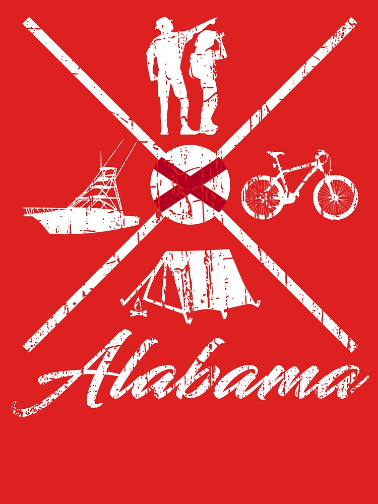 EXPLORE ALABAMA - DISTRESSED DESIGN WITH ALABAMA ADVENTURES by NotYourDesign