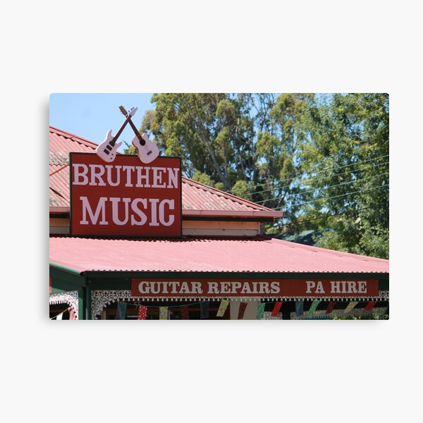 Bruthen Music Shop Canvas Print