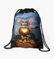 Queen of halloween Drawstring Bag
