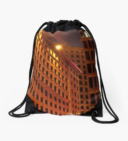 Downtown at night Drawstring Bag