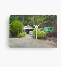 Mountain Train Metal Print