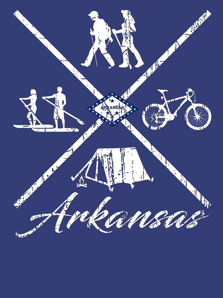 EXPLORE ARKANSAS - DISTRESSED DESIGN WITH ARKANSAS ADVENTURES by NotYourDesign