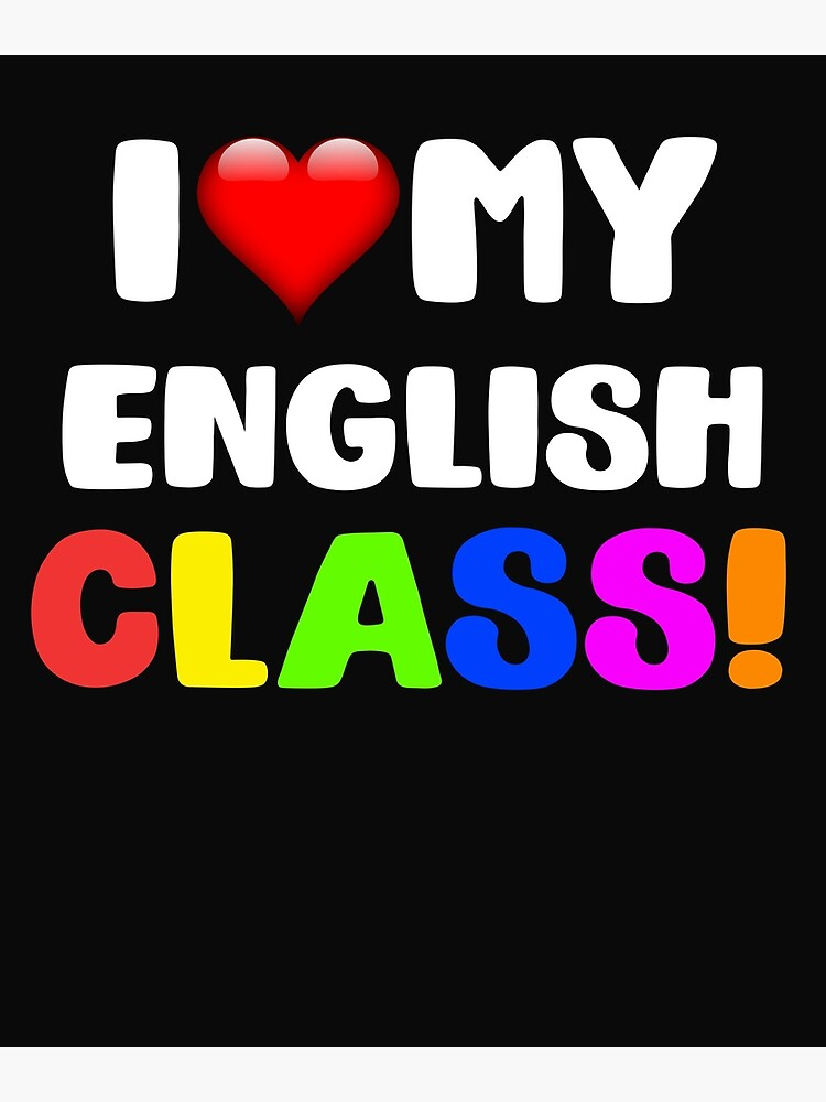 "I Love My English Class"" Postcard by 64thMixUp 