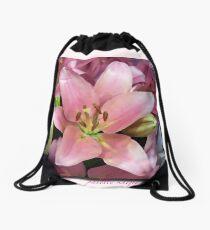 Lily - palette knifed Drawstring Bag