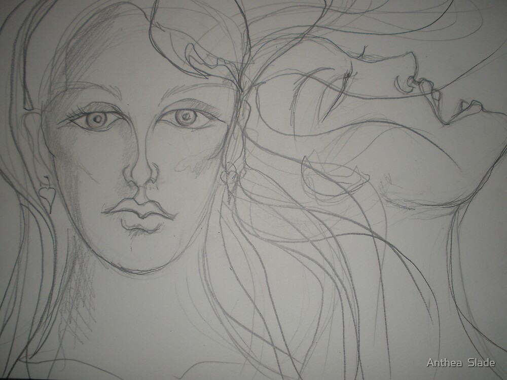 Muse & Wild Woman (in line) by Anthea  Slade