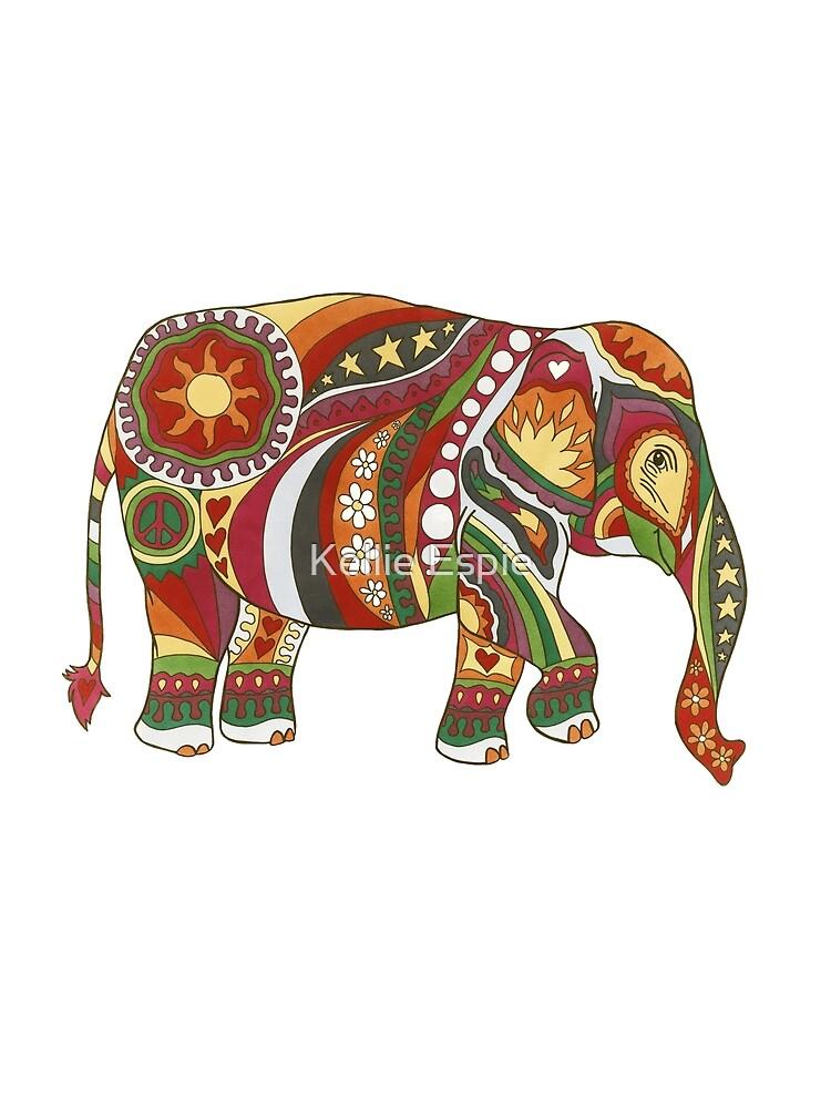 Vintage Psychedelic Elephant by kelkel66