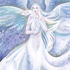 White Peacock Angel by Janet Chui
