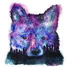 Starry Night Sky Fox by Jeri Stunkard