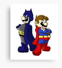 Mario Bros Super Heroes Canvas Print