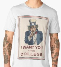 Uncle Sam - College Men's Premium T-Shirt