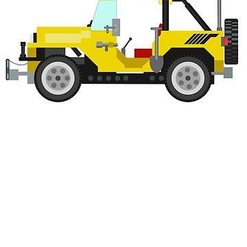Vintage 80's LEGO Modelteam Jeep by jimivandebeek