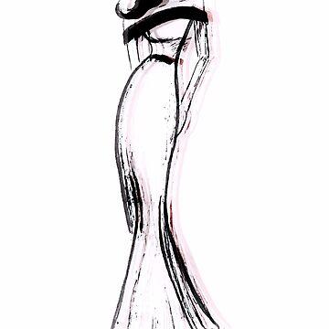 Fashion Model Sketch Design by Claireandrewss