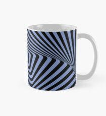 Op-Art Rad Rectangles in Blue Mug