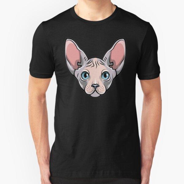 Camiseta fresca del gato de Sphynx - regalo de la camiseta para los amantes del gato Camiseta ajustada