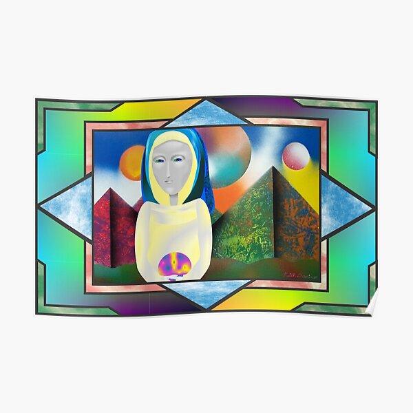 Alien Modonna Window Poster