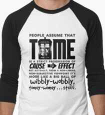 Wibbly-Wobbly Timey-Wimey...Stuff. Men's Baseball ¾ T-Shirt