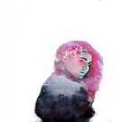 The Girl with pink hair by Edgot Emily Dimov-Gottshall