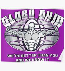 Globo Fitnessstudio Poster