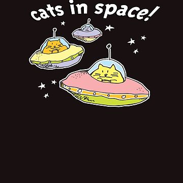 Space cats, Cats in Space by aartytees