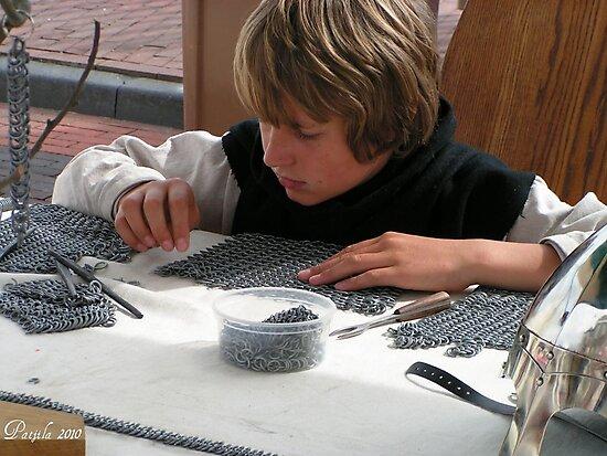 Medieval craft guild apprentice by patjila