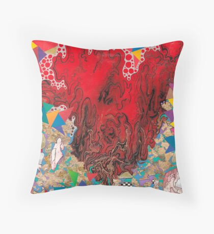 Swirls of Red Throw Pillow