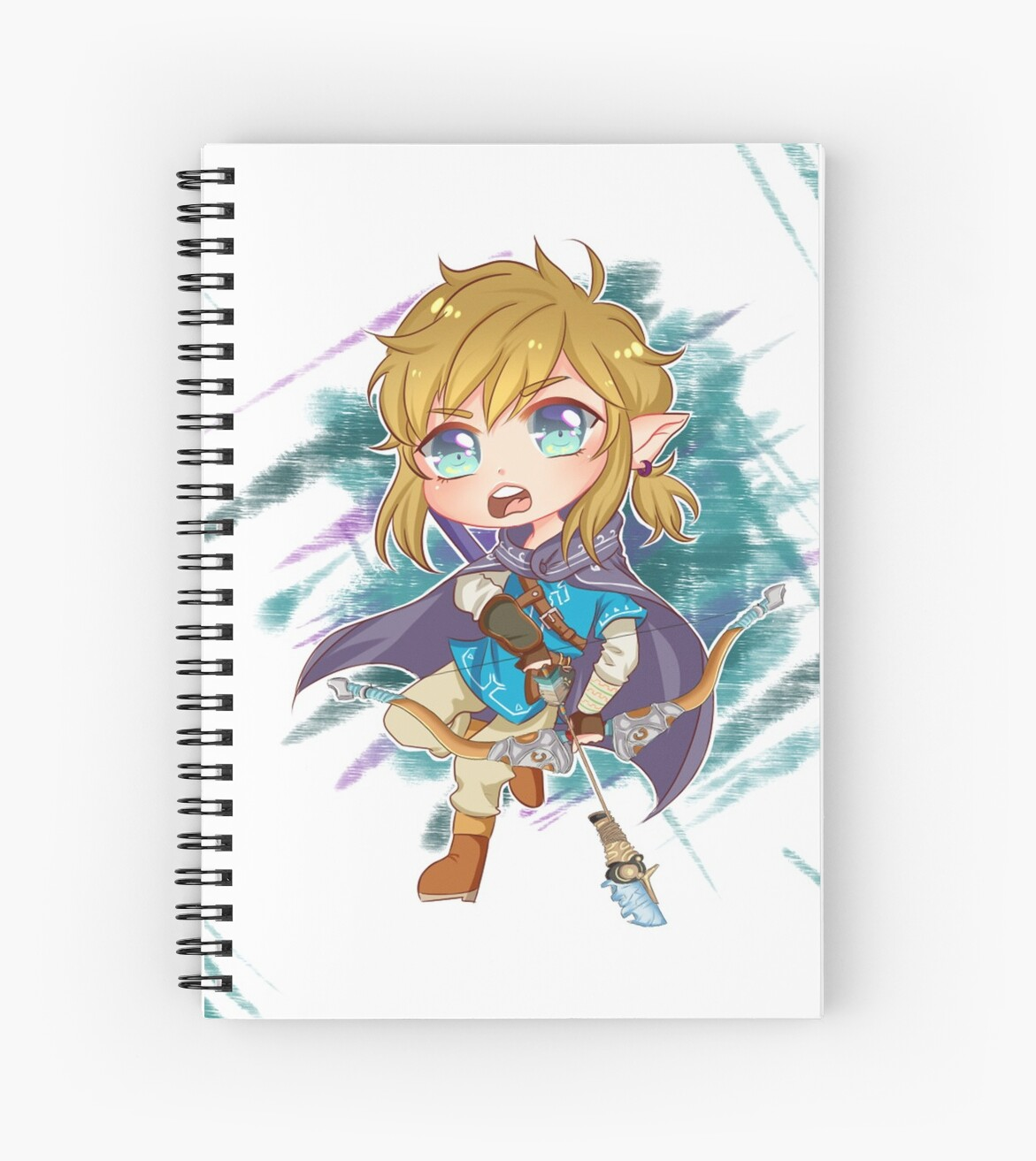 Chibi Link Botw Spiral Notebook By Jeffreykilljoy